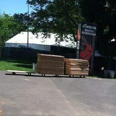 #SpokaneHoopfest set-up
