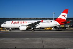 First Airbus in the new Austrian scheme. - Photo taken at Vienna - Schwechat (VIE / LOWW) in Austria on November Csa Czech Airlines, Austrian Airlines, Air Serbia, Airbus A320, Aviation News, The Second City, Belgrade, The Past, Aircraft