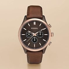 Summer watch shopping: brown potentials. FOSSIL® Watch Styles Leather Dress:Men Walter Leather Watch - Brown FS4632