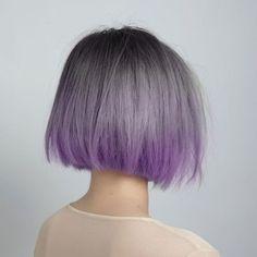 Lilac mist faded into electric violet lust colour Cruelty free hair colour  #Lusthairnz #phbnz #veganhaircolour