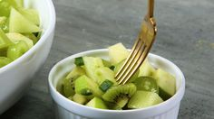 All green everything—that's the theme of this vibrant, eye-catching fruit salad. Honeydew melon, Granny Smith apples, Bartlett pears,...