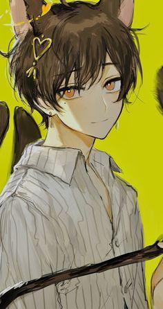 Anime Neko, Anime Oc, Anime Cat Boy, Got Anime, Oc Manga, Manga Kawaii, Anime Art Girl, Neko Boy, Dark Anime Guys