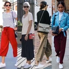 С чем носить кроссовки 0 Wide Leg Pants, Harem Pants, Capri Pants, Legs, Womens Fashion, Casual, Outfits, Clothes, Style
