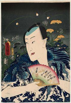 Actor Nakamura Fukusuke I, from the set Fashionable Firefly-hunting (Hotaru-gari fûzoku) Japanese 1860 (Ansei 7/Man'en 1), 3rd month Artist Utagawa Kunisada I (Toyokuni III) (Japanese, 1786–1864)