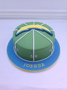 A San Diego Chargers Birthday cake by Fancy Fondant