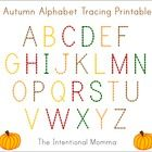 This upper-case alphabet tracing printable features fall colors with pumpkin accents to accompany your autumn-themed units in Pre-K and Kindergarte...