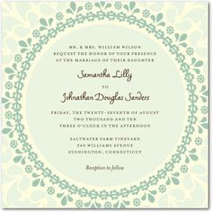 Signature Ecru Wedding Invitations Romantic Lace - Front : Chambord $1.29