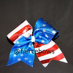 American Flag Cheer Bow- Booster Days Parade :)