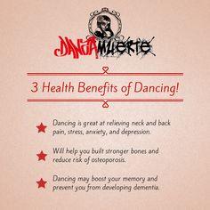 3 Health Benefits of Dancing! https://www.facebook.com/DanzaMuerteShoes