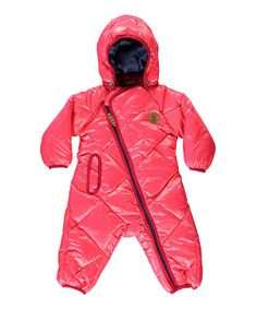Pink Fleece Waterproof Snowsuit with Hood - Infant by Racoon