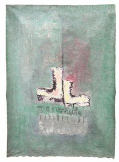 Amadou Sanogo  Sans titre  2011-2012  164 x 122 cm  Acrylique sur tissu  Magnin-A
