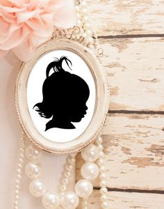 Traditional Profile Silhouette Custom Silhouette from by iillume