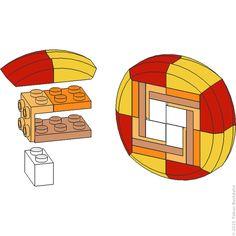 A visual dictionary for LEGO® building techniques Lego Modular, Lego Design, Lego Technic, Lego Burg, Lego Mini, Lego Hacks, Modele Lego, Lego Minecraft, Lego Lego