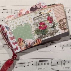 mini scrapbook made with coffee sleeves