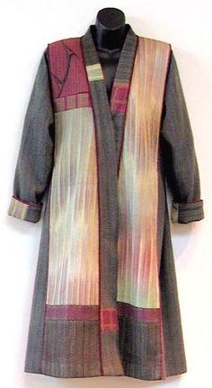 Liz Spear / handwoven coat. #weaving #sewing