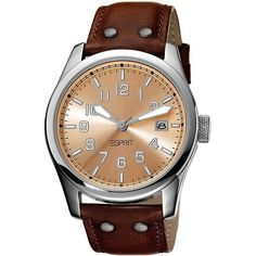 Esprit Women's ES103152002 Red Leather Quartz Watch with Brown Dial $68.00