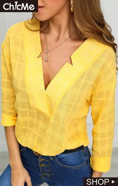 Star Neck Design Casual Shirt - All About Casual Shirts, Casual Outfits, Work Attire, Work Casual, Pattern Fashion, Fashion Dresses, Fashion Shirts, Dress Patterns, Blouse Designs