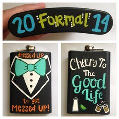 Painted flask, lol this is way cuter than Flasky at the Kappa Sigma formal a few years back. I mean--what flask? Fraternity Coolers, Frat Coolers, Formal Cooler Ideas, Bubba Keg, Greek Crafts, Sigma Kappa, Delta Gamma, Theta, Big Little Gifts