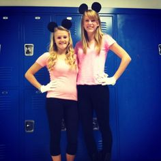 Last week was spirit week. Thursday was character day so me and ash decided to be mini mouse twins!