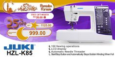 Juki HZL-K85 #ramadan #kareem #discount #sale #sewing #machine #juki #stitch #fashion #online #mall