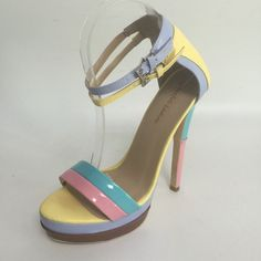 74.10$  Buy now - http://alikfc.shopchina.info/go.php?t=32805692675 - Sorbern Candy Color Platform High Heel Women Sandals Multi-color Plus Size Shoes Female summer sandals size 15 zapatos mujer 74.10$ #magazineonlinebeautiful