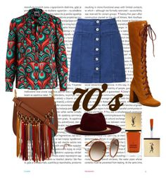 """""""70's"""" by washitape ❤ liked on Polyvore featuring Oris, Prada, Witchery, Yves Saint Laurent, Chloé and Venna"""