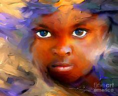 Child Eyes Painting ~Bob Salo