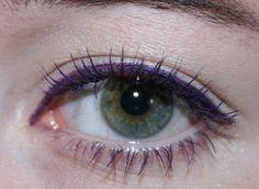 purple eyeliner for green eyes.