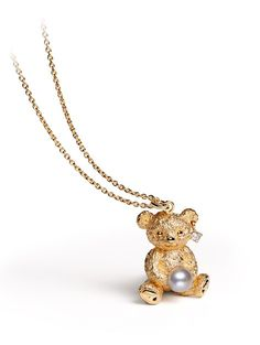 """Teddy Bear Pendant >< For the mother-to-be, or the new- Mama; or if Mama thinks her daughter is ready, she can """"gift"""" it to her !"""