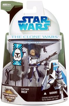 Star Wars The Clone Wars Captain Rex 1st Day of Issue Figure Hasbro $19.99