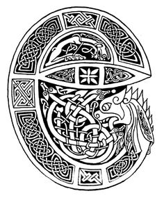 The Hound of Cuchulainn. Cuchulainn is a great hero & guardian of the land in Irish tradition. His hound had the task of defending the people & their territory. The hound therefore represents steadfastness to goals.
