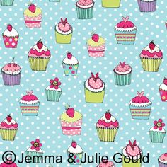 Cupcake Illustration, Pattern Illustration, Fabric Patterns, Print Patterns, Cupcake Drawing, Scrapbook Paper, Scrapbooking, Food Illustrations, Surface Pattern