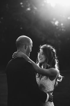 Bride and groom black and white wedding portrait