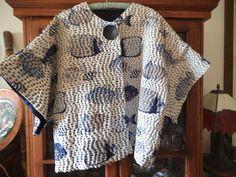 Olympus Sashiko Fabric - Sashiko Placemat Kit # 166 - Seven Treasures - Navy - Japanese Embroidery - Embroidery Design Guide Mode Kimono, Kimono Jacket, Sashiko Embroidery, Japanese Embroidery, Embroidery Books, Boro Stitching, Mode Crochet, Pullover Shirt, Japanese Sewing