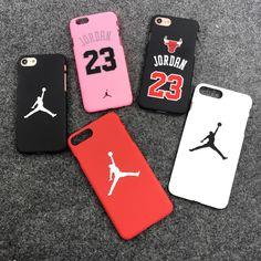 0cee76b3eda4 Hot Jordan 23 Chicago bull sports Matte hard plastic case for iphone 7  7plus 5 5s se 6 S 6s plus 8 8plus X Coque cover cases