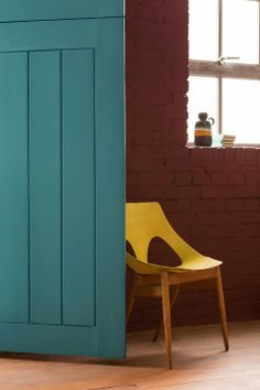 Hitta hem - teal and yellow.  Great colour combo.