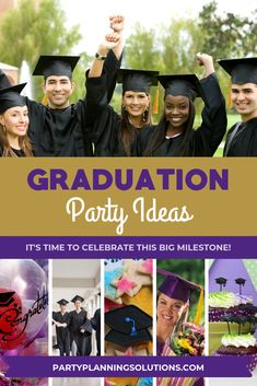 Looking for Graduation Party Ideas? We've got Themes, Decor, Menu Ideas & More! Start planning a graduation party like a Pro today! Graduation Party Themes, Grad Parties, Party Games, Party Favors, Time To Celebrate, Feeling Overwhelmed, Party Planning, How To Memorize Things, Party Ideas