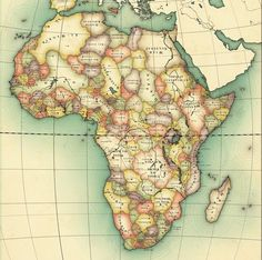 Africa, Uncolonized: A Detailed Look at an Alternate Continent Big Think Strange Maps Historical Maps, Historical Pictures, History Books, World History, Les Continents, Alternate History, Old Maps, Map Design, Vintage Maps