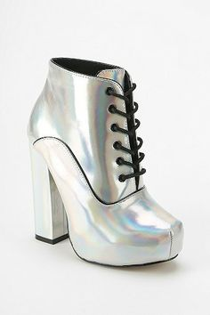 Shellys London Holograph Lace-Up Boot $140.00