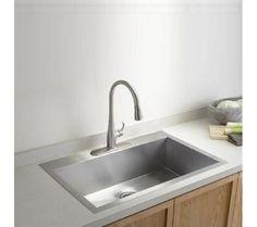 triple bowl 42-inch stainless steel undermount zero radius kitchen