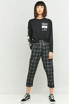 Urban Renewal Vintage Remnants Dark Grey Checked Trousers
