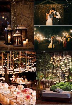 Decoracion nocturna para bodas #bodas #decoracionbodas #weddingdecor