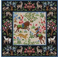 Huntsman Tapestry Susan Treglown mesh: 14:1 dimension: 13 x 13