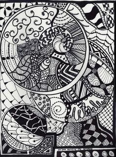 Zentangle drawings :)
