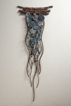 Flow In Blues By Hannie Goldgewicht Mixed Media Wall - Flow In Blues By Hannie Goldgewicht Hand Formed Copper Wall Sculpture With Ceramic Details Each Piece Is Unique Slight Variations May Occur Wall Sculptures, Sculpture Art, Ceramic Sculptures, Sculpture Ideas, Angel Sculpture, Cardboard Sculpture, Roman Sculpture, Textile Sculpture, Mixed Media Sculpture
