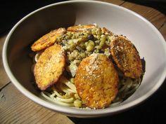 Bowl of fried tempeh