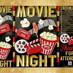 Movie Clipart Movie Night Clip Art Popcorn Clipart Cinema | Etsy Movie Clipart, Pretzel Bags, Hollywood Birthday Parties, Printable Water Bottle Labels, Brochure Paper, Birthday Chocolates, Royal Baby Showers, Chip Bags