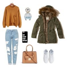 Winter Outfit 2k16 by you-could-be on Polyvore featuring polyvore, fashion, style, Hollister Co., Topshop, adidas, Michael Kors, Casetify, Marc Jacobs and clothing