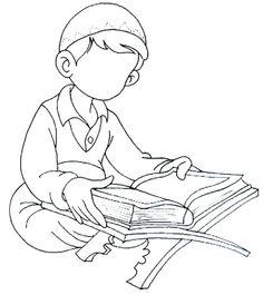 Boy reading the Quran
