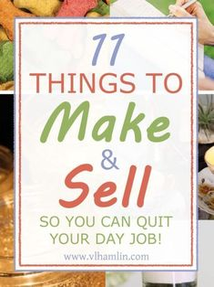Even More Things To Make and Sell From Home So You Can Quit Your Day Job Sick of the day to day drag? Need to make some extra money? Here's a list of 11 things to make and sell from home so you can quit your day job and get more out of your Earn Money From Home, Way To Make Money, Make Money Online, Making Money From Home, Money Making Crafts, Hobbies That Make Money, Get Money Fast, Make To Sell, Hobbies For Women